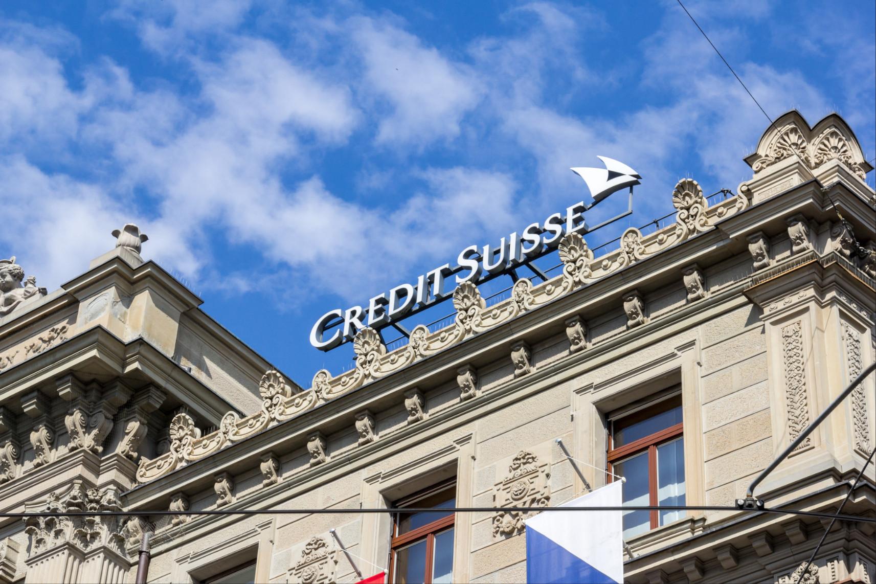 image Zurich,,Switzerland,-,April,19,,2021.,Credit,Suisse,In,The